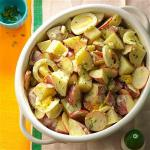 American Tangy Potato Salad with Radishes Appetizer