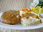 American Smothered Hamburger Steak 1 Appetizer