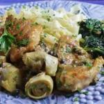 British Chicken Piccata with Artichoke Hearts Recipe Appetizer