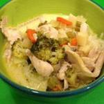 American Chicken Stew with Lots of Vegetables and Coconut Milk Dinner