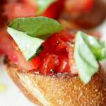 Italian Bruschetta with Tomato and Basil 2 Appetizer