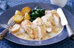 American Chicken With White Wine And Mustard Sauce Recipe Appetizer