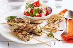 American Pork Skewers With Caprese Salad Recipe Appetizer