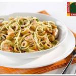 Chilean Spaguettis with Chicken and Olives Appetizer