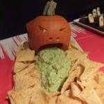 American Spewing Pumpkin Guacamole Appetizer