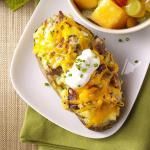 American Twicebaked Breakfast Potatoes for Two Appetizer