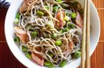 British Soba Noodles With Salmon and Ponzu Sauce Recipe Appetizer
