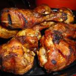 American Lemon and Black Pepper Marinated Grilled Chicken Legs recipe