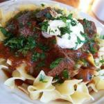 German Goulash with Cream Appetizer