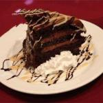 American Cake Delicacy of Chocolate with Chocolate Bath Dessert