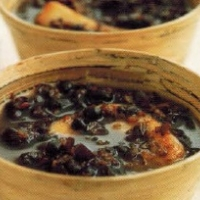 Japanese Sweet Red Bean Soup With Mochi Soup