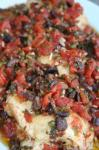 American Chicken Thighs With Tomatoes Olives and Capers Dinner