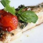 Canadian Cod with Cherry Tomatoes Dinner