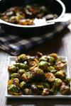 American Roasted Brussels Sprouts With Garlic Recipe Appetizer