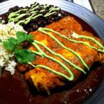 British Chicken Enchiladas Suiza enchiladas with Sour Cream Cheese Sauce Dinner