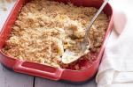 American Baked Apple and Cinnamon Almond Crumble Recipe Dessert