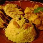 Indian Indianstyle Rice with Cashews Raisins and Turmeric Recipe Dinner
