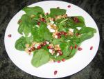 American Wild Green Salad With Pomegranate Vinaigrette Appetizer