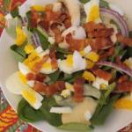 Swiss Spinach Salad with Bacon Dessert