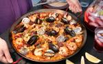 Mexican Paella Mixta paella with Seafood and Meat Recipe Appetizer