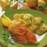 Austrian Classic Viennese Baked Chicken with Potato Salad Appetizer