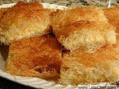 Arabic Filo Pastry with Cheese Kadayif Dessert