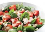 American Strawberry Spinach and Chevre Salad Dinner