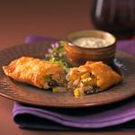 Canadian Southwest Egg Rolls and Cool Avocado Dip Appetizer