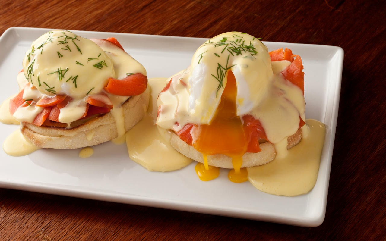 British Eggs Benedict with Smoked Salmon Recipe Appetizer