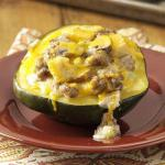 American Sausage and Mushroom Stuffed Squash Appetizer