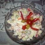 Spanish Salad with Green Peas Appetizer