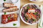 British Asian Glazed Pork Belly With Winter Slaw Recipe Appetizer