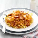 American Shrimp Scampi Fettuccine with Andouille Butter Appetizer