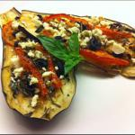 Canadian Tomato Stuffed Roasted Eggplant with Feta BBQ Grill