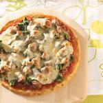 Australian Sausage Spinach Pizza Appetizer