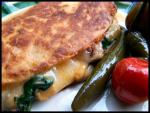 American Spinach and Mushroom Quesadillas 1 Appetizer