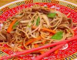 Chinese Chinese Stir Fried Beef Noodles Dinner