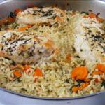 Thyme Chicken and Rice Skillet Dinner recipe