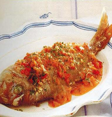 Australian Poached Snapper With Fresh Tomato Sauce Appetizer