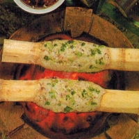 Vietnamese Sugar Cane Sticks Coated with Shrimp Appetizer