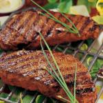 Grilled Kobe Striploin Steaks with Aioli recipe
