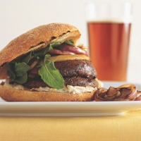 British Grilled Mushroom Burgers with White Bean Spread BBQ Grill