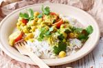 British Chickpea and Spinach Curry Recipe Dinner