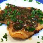 Italian Plaice Fillet with Lemon Sauce Dinner