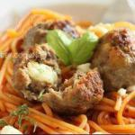 British Meatballs with Mozzarella Filled Dinner
