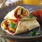 Canadian Burritos of Egg with Roasted Pepper Appetizer