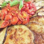 Italian Fried Aubergine with Sauce of Fresh Tomatoes Appetizer