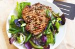 American Marmaladeglazed Pork With Bean And Celery Salad Recipe Dinner