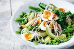 British Broccolini And Soba Noodle Salad With Wasabi Dressing And Ginger Salt Recipe Appetizer