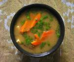 American Miso Soup With Shiitake Mushrooms and Tofu Appetizer